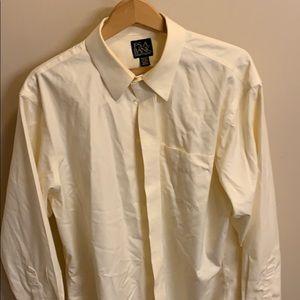 Off white Jos A Bank men's dress shirt